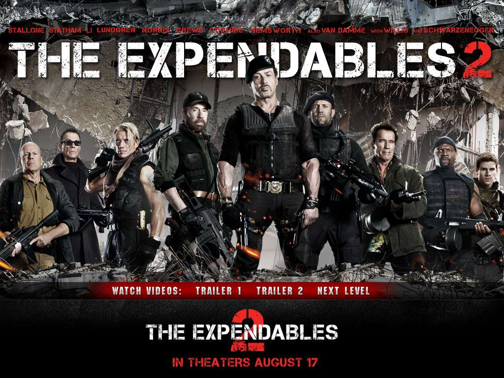 The Expendables 2 (2012) ORIGINAL Untouched DD 5.1CH 224Kbps Hindi Audio 165MB