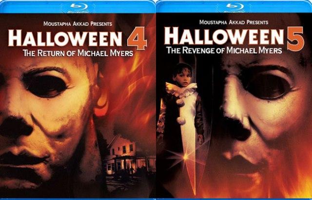 Halloween 4 & 5 blu image
